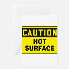 Caution Hot Surface Greeting Cards