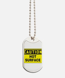 Caution Hot Surface Dog Tags