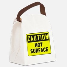 Caution Hot Surface Canvas Lunch Bag