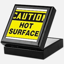 Caution Hot Surface Keepsake Box