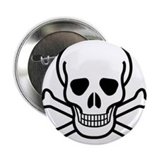 "Skull and Bones 2.25"" Button"