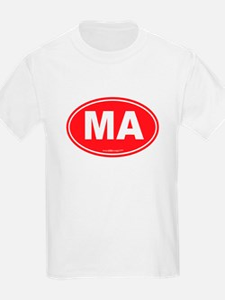 Massachusetts Euro Oval Green T-Shirt