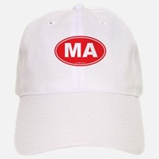 Massachusetts Euro Oval Green Baseball Baseball Cap