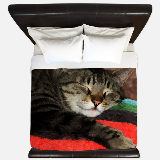 Cat Snoozing King Duvet