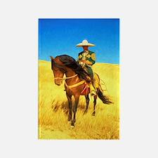 Shaman on Horse Rectangle Magnet