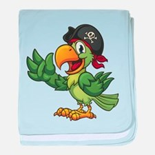 Pirate-Parrot baby blanket