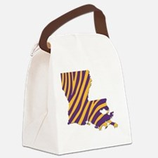 Louisiana Tiger Stripes Canvas Lunch Bag