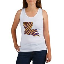 Louisiana Tiger Stripes Women's Tank Top