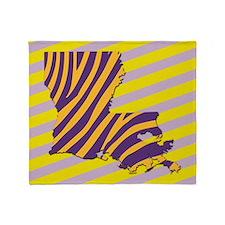 Louisiana double Tiger Stripes Throw Blanket