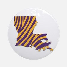 Louisiana Tiger Stripes Round Ornament