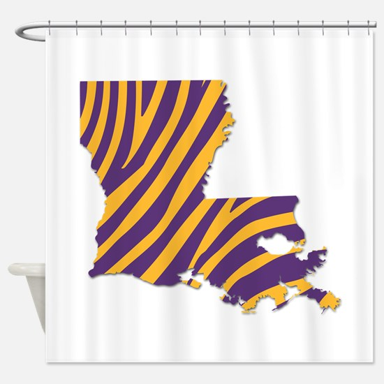 Louisiana Tiger Stripes Shower Curtain