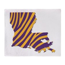 Louisiana Tiger Stripes Throw Blanket
