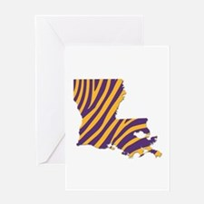 Louisiana Tiger Stripes Greeting Cards