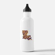 Louisiana Tiger Stripe Water Bottle