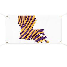 Louisiana Tiger Stripes Banner