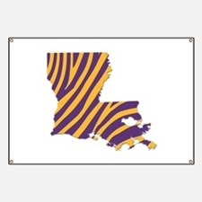 Louisiana Tiger Stripes Banner