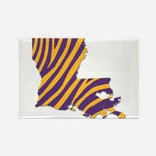 Louisiana Tiger Stripes Magnets