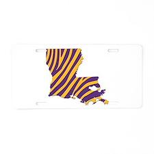 Louisiana Tiger Stripes Aluminum License Plate