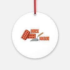 Brick Mason Round Ornament