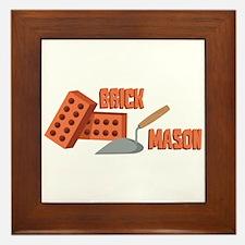 Brick Mason Framed Tile