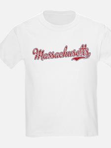 Massachusetts Script Font Vintage T-Shirt