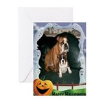 Halloween Bulldog cards(Pk of 10)