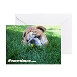 Bulldog speach Greeting Cards (Pk of 10)