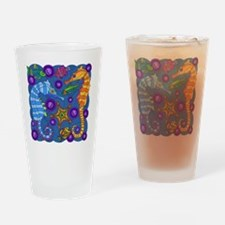 Seahorses Drinking Glass