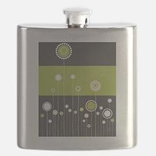 Trendy Floral Pattern Ilustration Flask