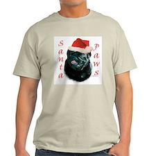 Santa Paws Pug (blk) T-Shirt
