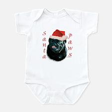 Santa Paws Pug (blk) Infant Bodysuit
