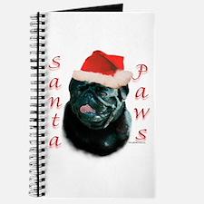 Santa Paws Pug (blk) Journal