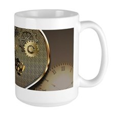 Steampunk, awesome motorcycle on a heart Mugs
