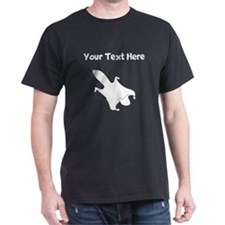 Custom Flying Squirrel Silhouette T-Shirt