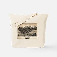 Vintage Pictorial Map of Bar Harbor (1886 Tote Bag