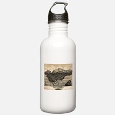 Vintage Pictorial Map Water Bottle