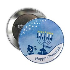"Happy Chanukah 2.25"" Button (10 pack)"
