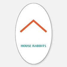 House Rabbits white Decal