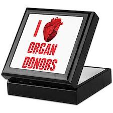 I love organ donors Keepsake Box