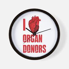 I love organ donors Wall Clock