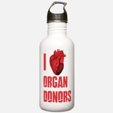 I love organ donors Sports Water Bottle