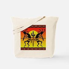 Southwest Dancing Kokopelli Tote Bag