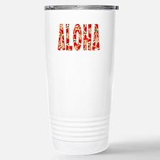 Aloha Hawaiian Flowers Stainless Steel Travel Mug