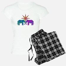 Colorful Paisley Elephant L Pajamas