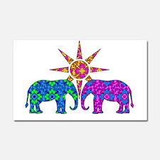 Colorful Paisley Elephant Love Car Magnet 20 x 12