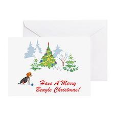 Christmas Beagle Greeting Card