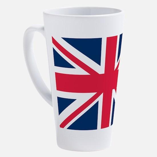 British Flag 17 oz Latte Mug