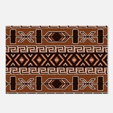 Brown And Tan Aztec Patte Postcards (Package of 8)