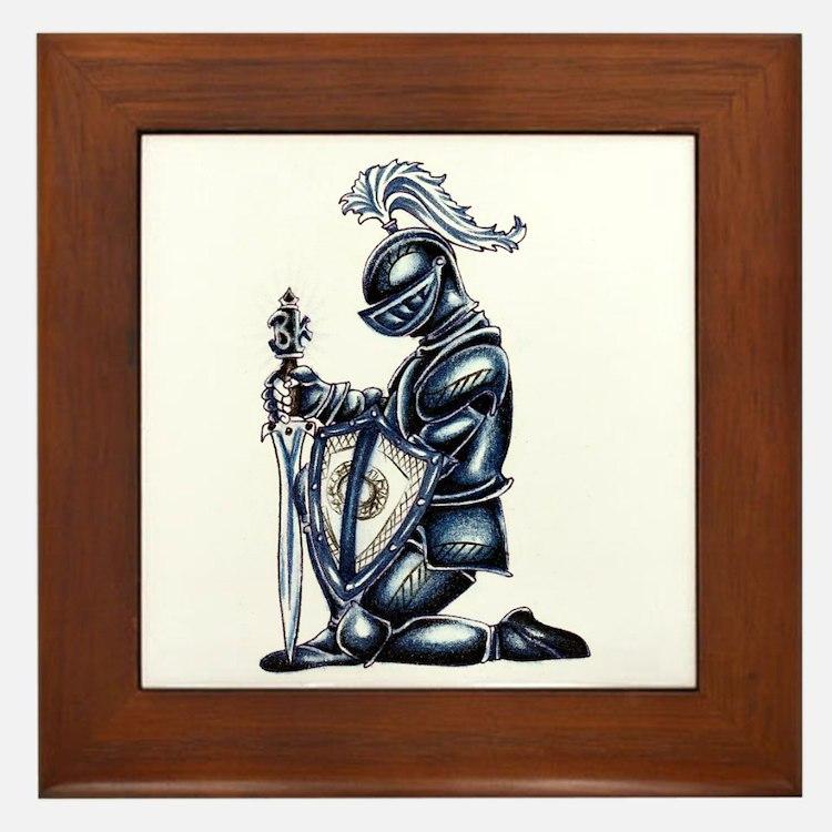 Cute Knight Framed Tile