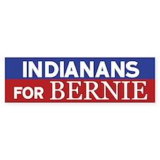 Indianans for Bernie Bumper Bumper Sticker